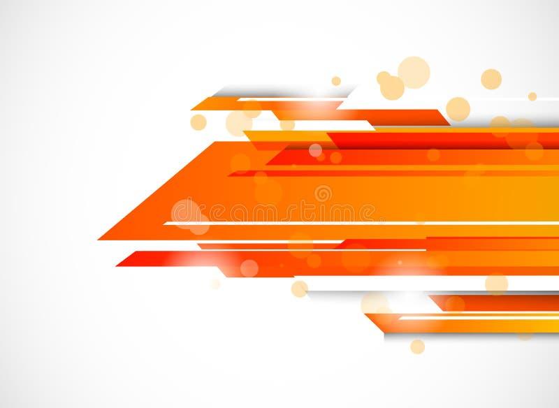 Fondo astratto di tecnologia nel colore arancio royalty illustrazione gratis