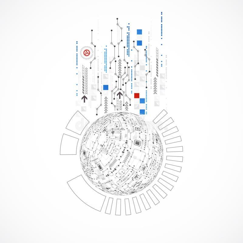 Fondo astratto di tecnologie informatiche per il vostro affare royalty illustrazione gratis