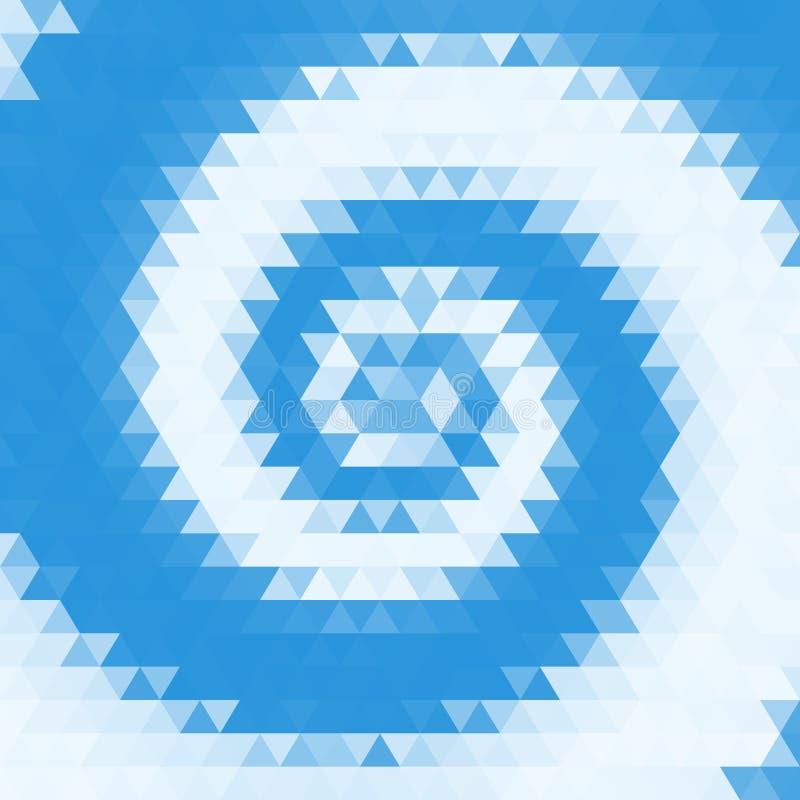 Fondo astratto di turbinio dei triangoli illustrazione di stock