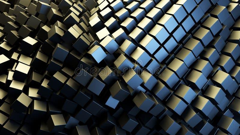 Fondo astratto di un mucchio dei cubi illustrazione vettoriale