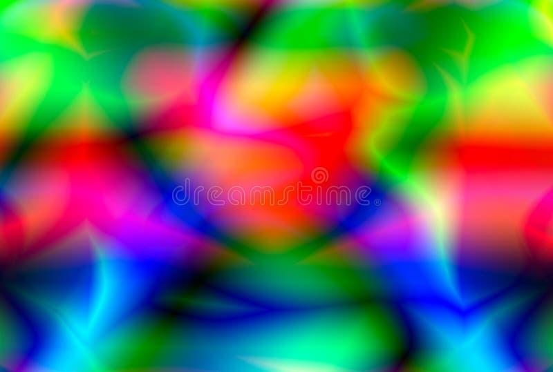 Fondo astratto di una fiamma del gas, tonalità multicolori di fuoco su un fondo scuro immagine stock libera da diritti