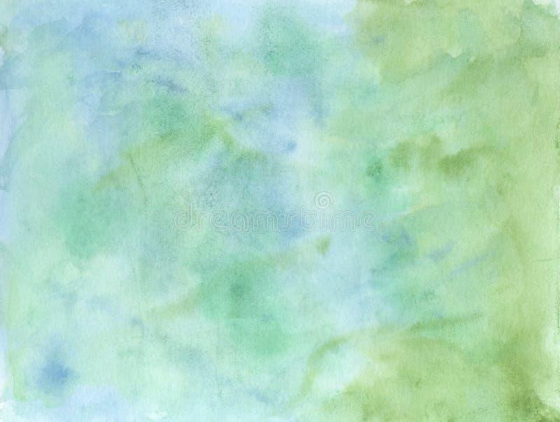 Fondo astratto di verde/blu acquerello illustrazione vettoriale