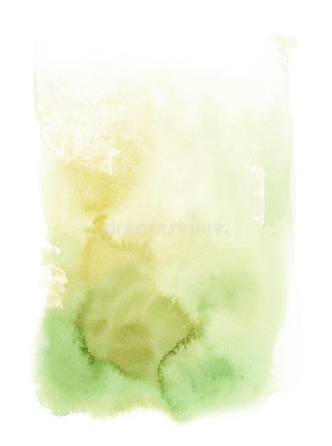 Fondo astratto di verde dell'acquerello Modello per la progettazione dei manifesti, inviti, carte royalty illustrazione gratis