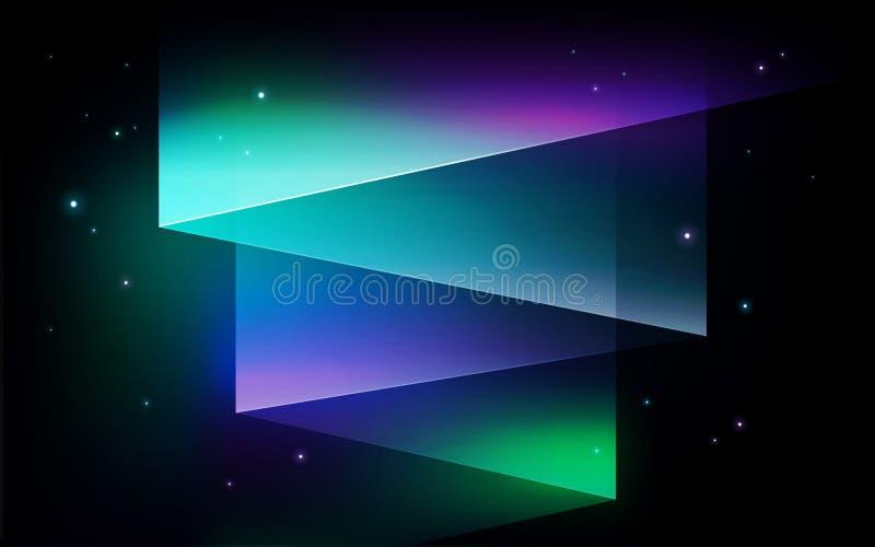 Fondo astratto di vettore - aurora boreale di aurora borealis SH illustrazione di stock