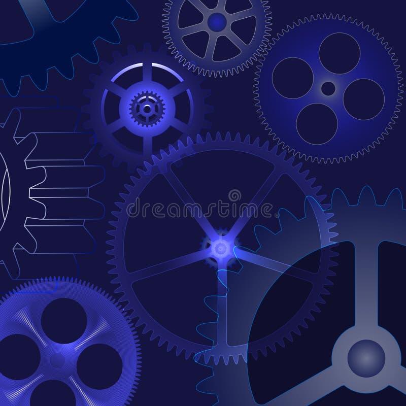 Fondo astratto di vettore con gli ingranaggi illustrazione vettoriale