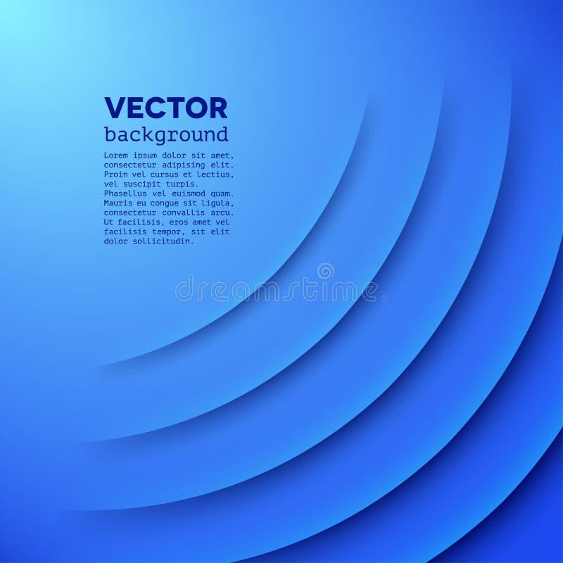Fondo astratto di vettore con gli strati blu illustrazione vettoriale