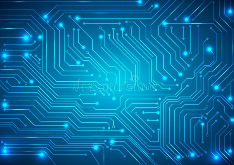 Fondo astratto di vettore con il circuito alta tecnologia illustrazione vettoriale