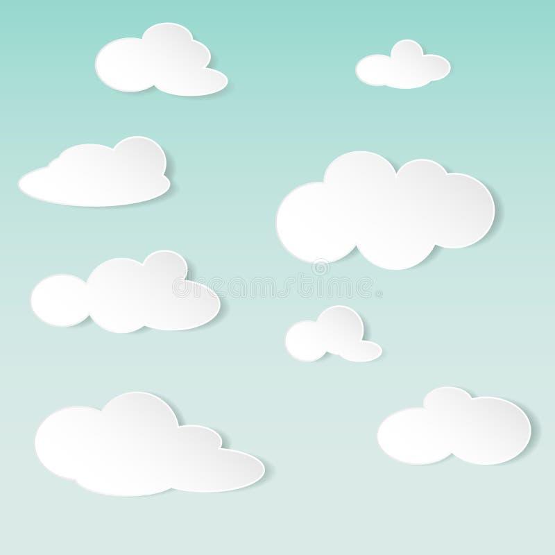 Download Fondo Astratto Di Vettore Con Le Nuvole Del Libro Bianco Illustrazione Vettoriale - Illustrazione di moderno, etichetta: 30829118