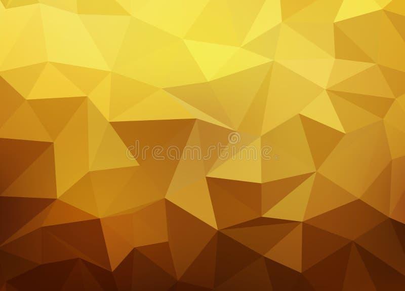Fondo astratto di vettore dell'oro illustrazione di stock