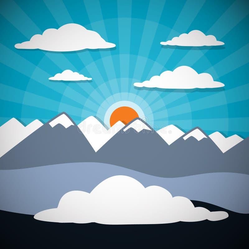 Fondo astratto di vettore della montagna illustrazione vettoriale