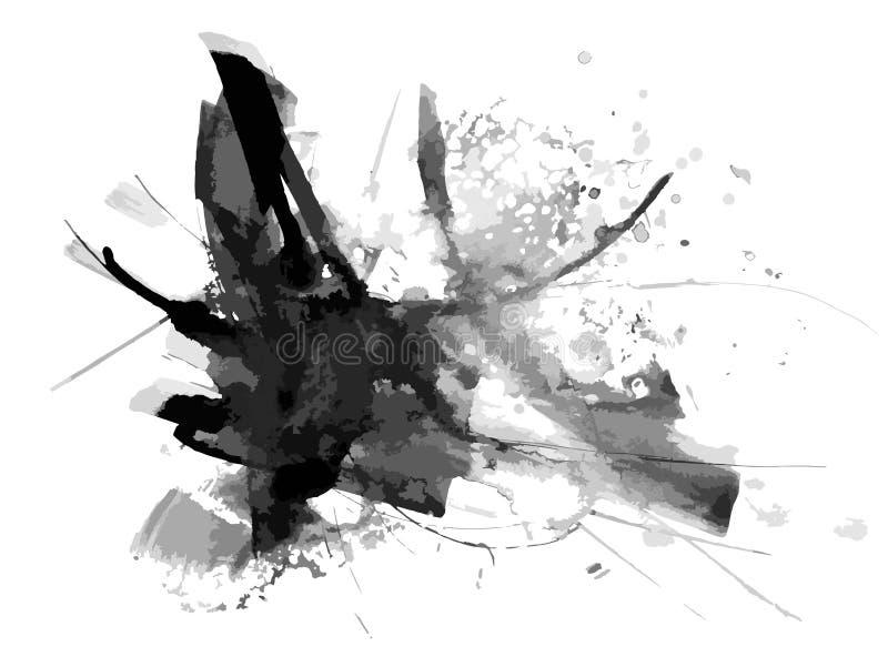 Fondo astratto di vettore della pittura dell'inchiostro illustrazione di stock