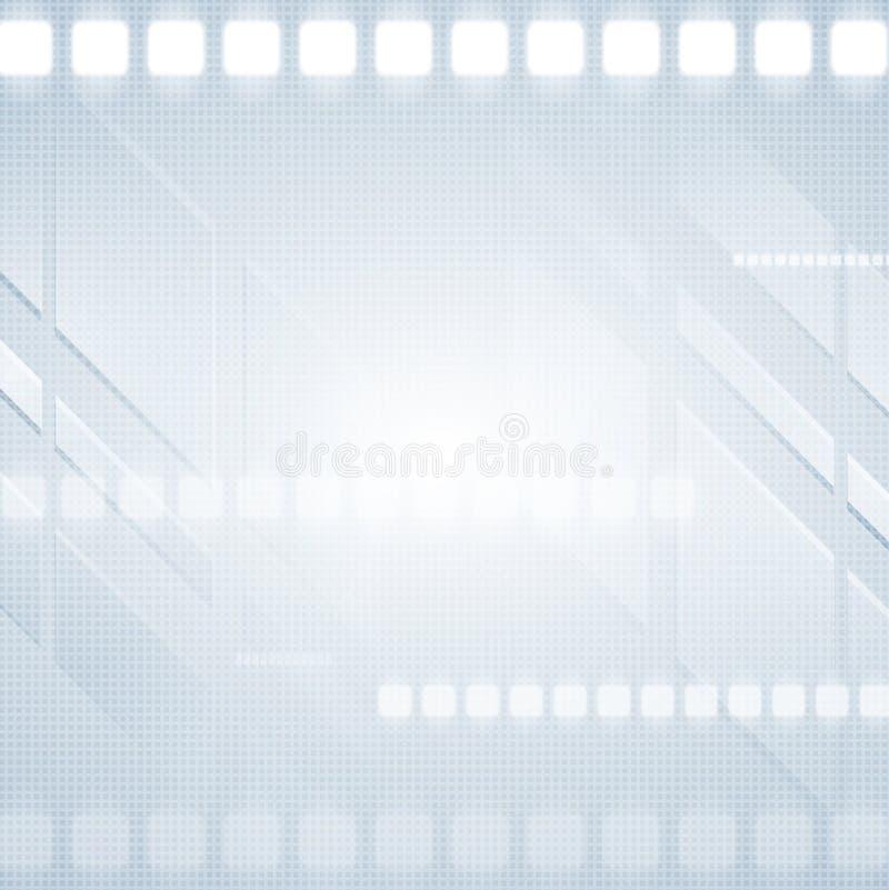 Fondo astratto di vettore di ciao-tecnologia illustrazione di stock