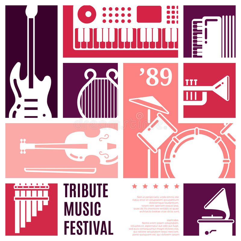 Fondo astratto di vettore di festival di musica illustrazione di stock