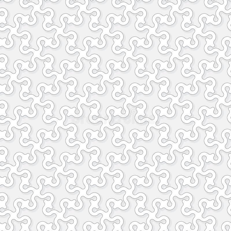 Fondo astratto di vettore - mare d'annata capriccioso royalty illustrazione gratis