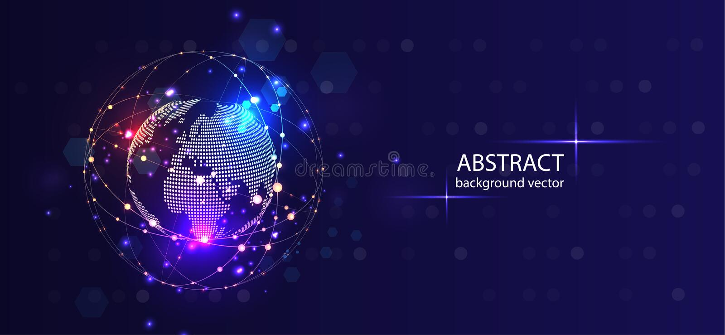 Fondo astratto di vettore di tecnologia Per l'affare, scienza, progettazione di tecnologia illustrazione vettoriale