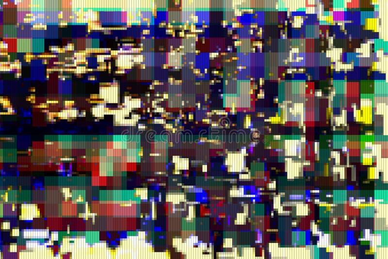 Fondo astratto digitale di distorsione dei manufatti di impulso errato, cattivo royalty illustrazione gratis