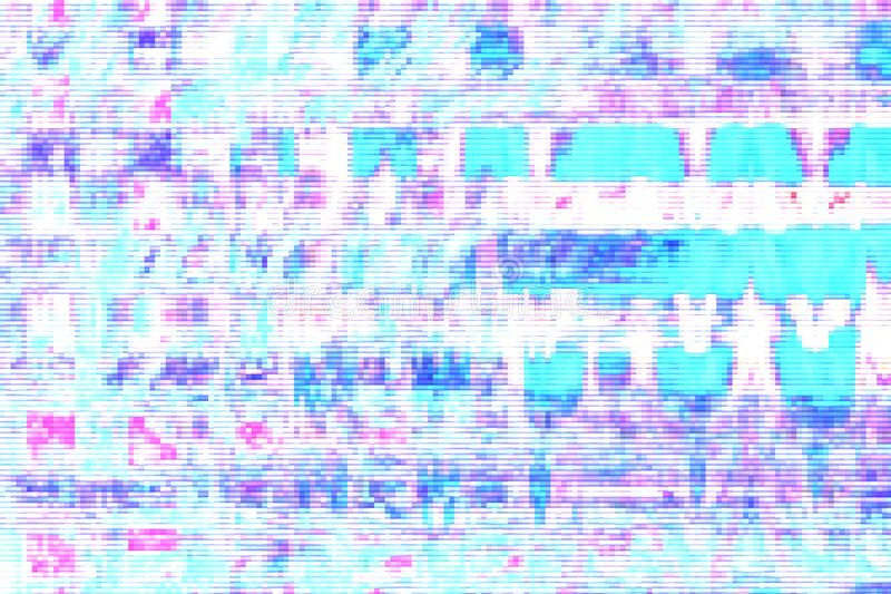 Fondo astratto digitale di distorsione dei manufatti di impulso errato, elemento di media illustrazione di stock