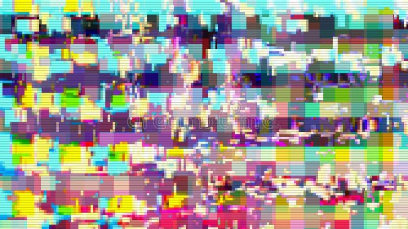 Fondo astratto digitale di distorsione dei manufatti di impulso errato, interferenza di danno royalty illustrazione gratis