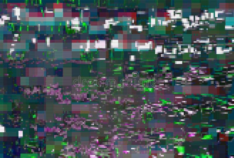Fondo astratto digitale di distorsione dei manufatti di impulso errato, struttura royalty illustrazione gratis