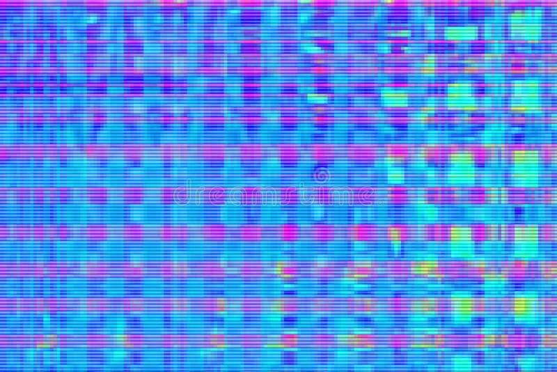 Fondo astratto digitale di distorsione dei manufatti di impulso errato, struttura di media illustrazione di stock