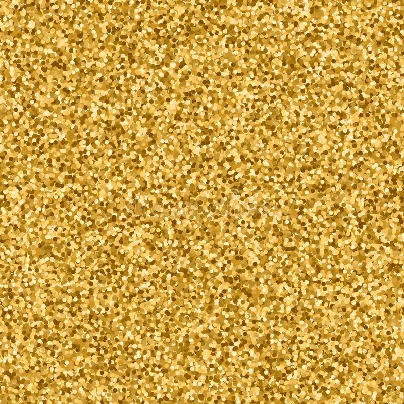Fondo astratto dorato degli zecchini di scintillio illustrazione di stock