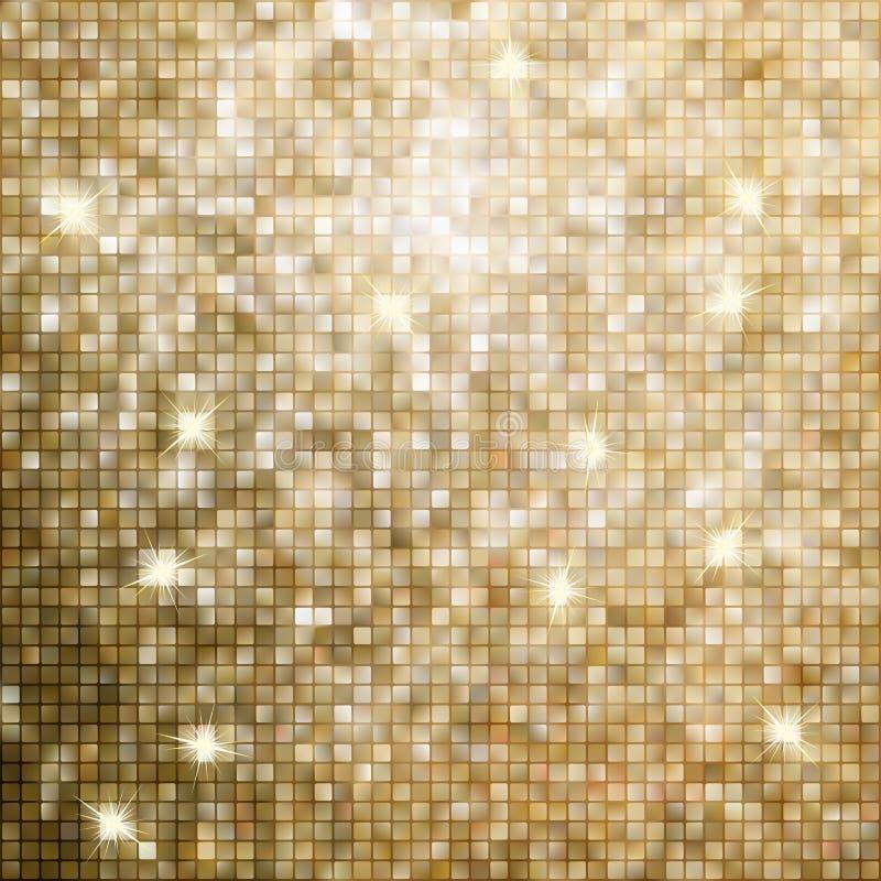 Fondo astratto dorato del mosaico. ENV 8 illustrazione di stock