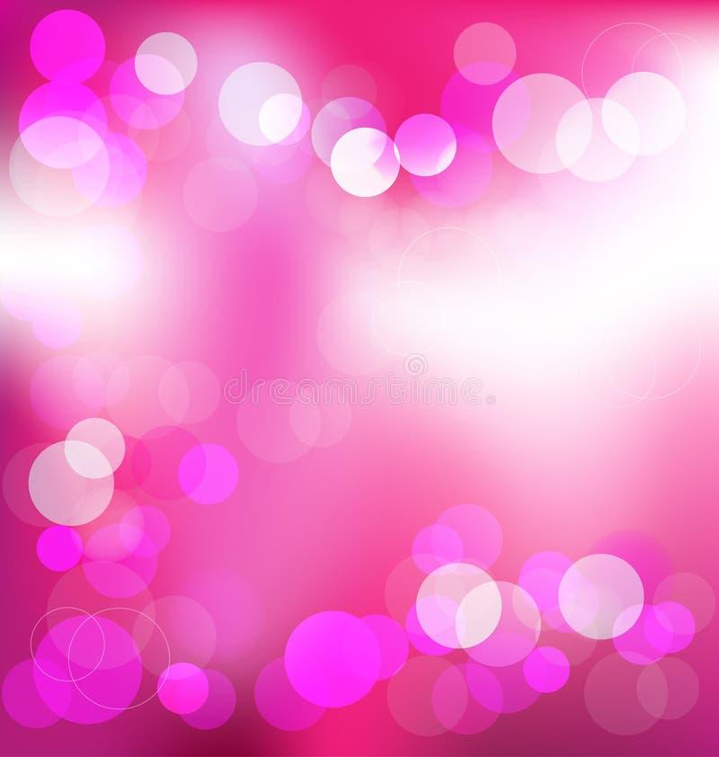 Fondo astratto elegante rosa con le luci del bokeh royalty illustrazione gratis