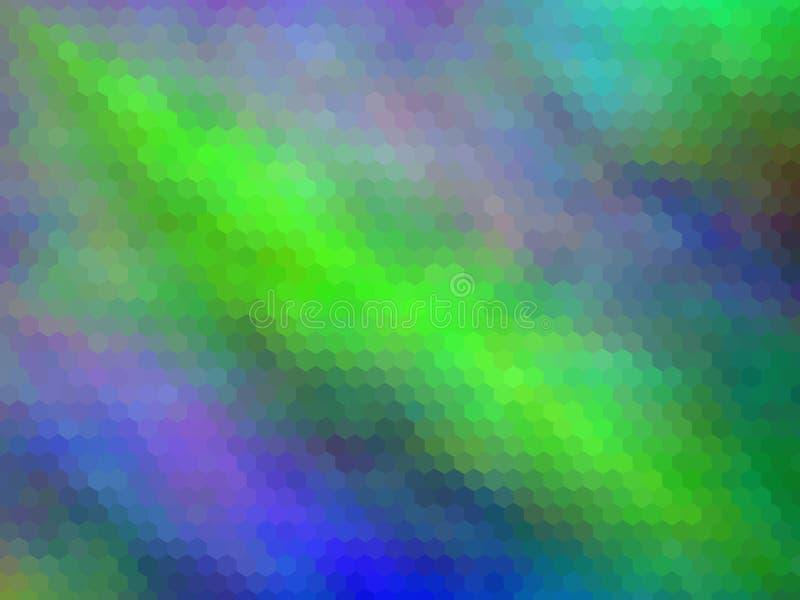 Fondo astratto esagonale pixeled multicolore royalty illustrazione gratis