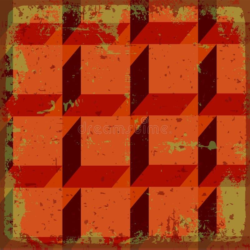 Fondo astratto geometrico illustrazione vettoriale