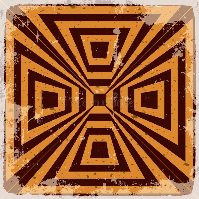 Fondo astratto geometrico illustrazione di stock