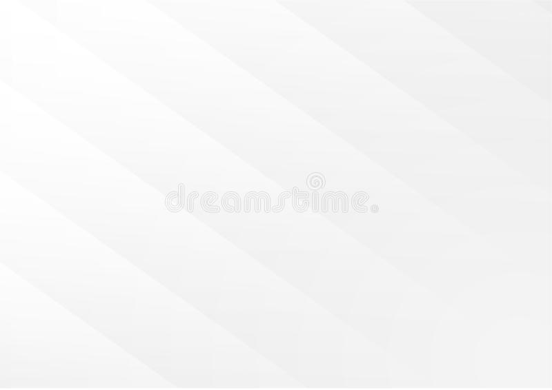 Fondo astratto geometrico bianco e grigio illustrazione di stock