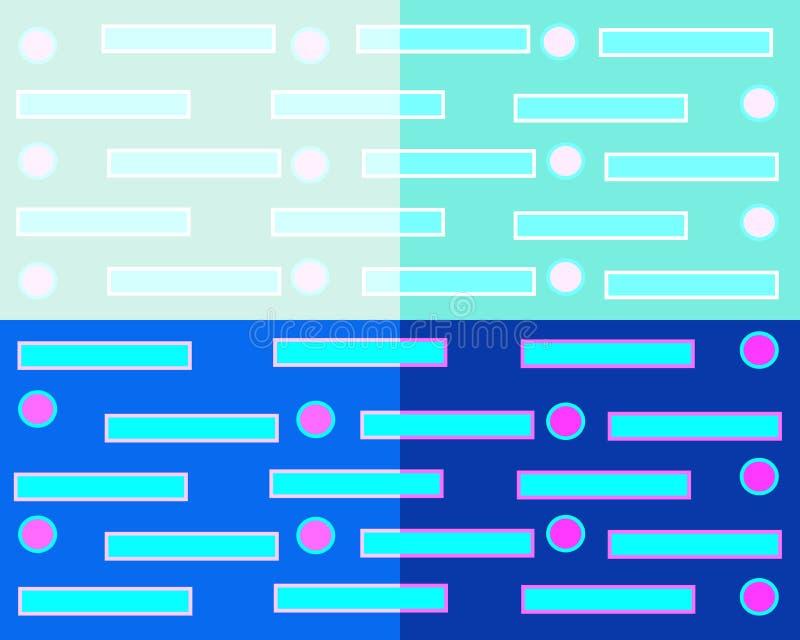 Fondo astratto geometrico che consiste di quattro quadrati dei colori differenti illustrazione vettoriale