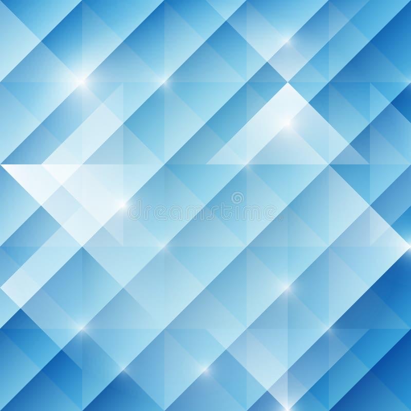 Fondo astratto geometrico con i triangoli, tono blu, vettore illustrazione vettoriale