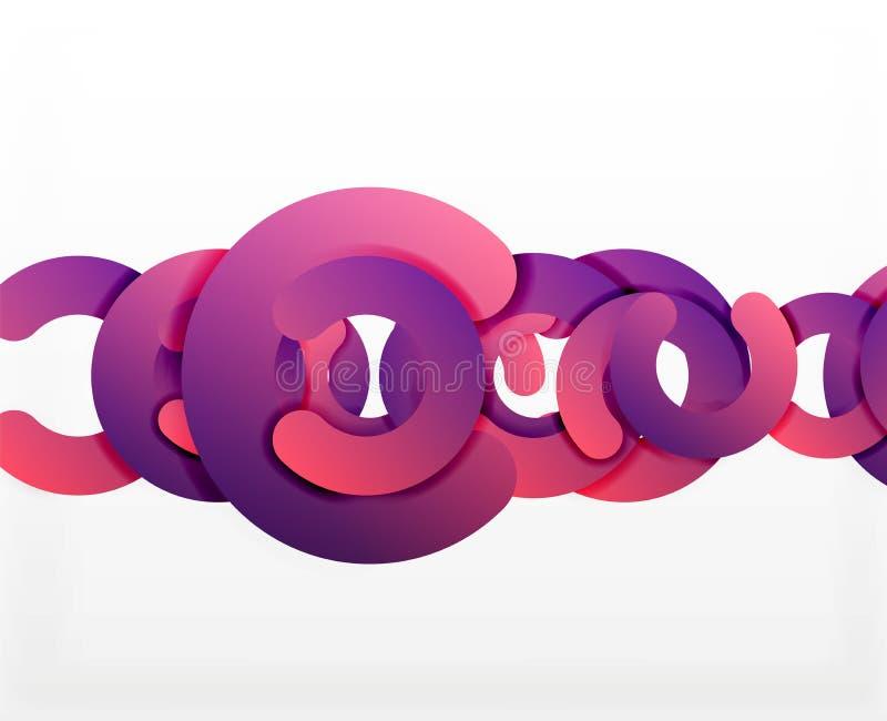 Fondo astratto geometrico del cerchio, affare variopinto o progettazione di tecnologia per il web illustrazione di stock