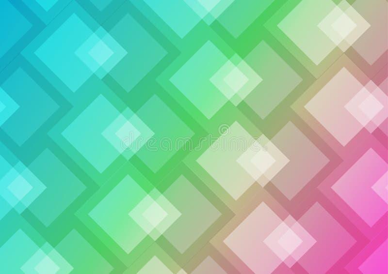 Fondo astratto geometrico, modello di vettore di colore per i manifesti immagine stock