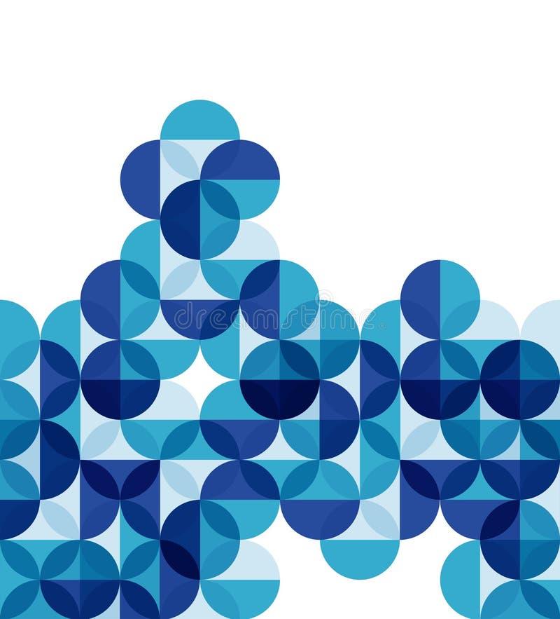 Fondo astratto geometrico moderno blu royalty illustrazione gratis