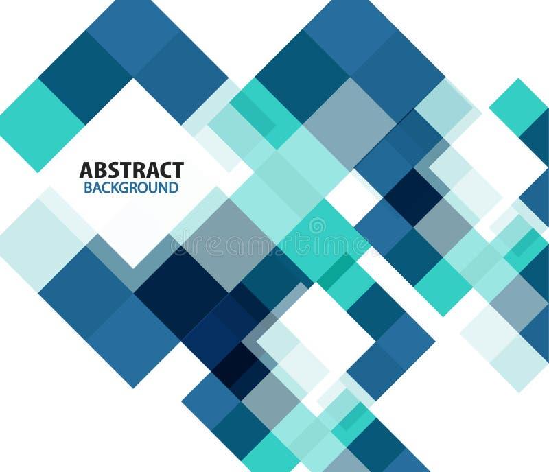 Fondo astratto geometrico moderno blu illustrazione di stock
