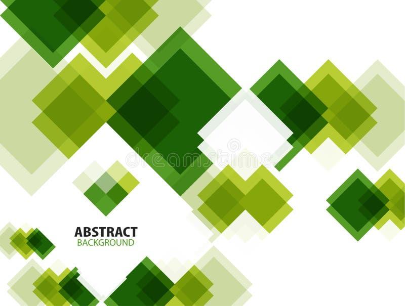 Fondo astratto geometrico moderno verde royalty illustrazione gratis