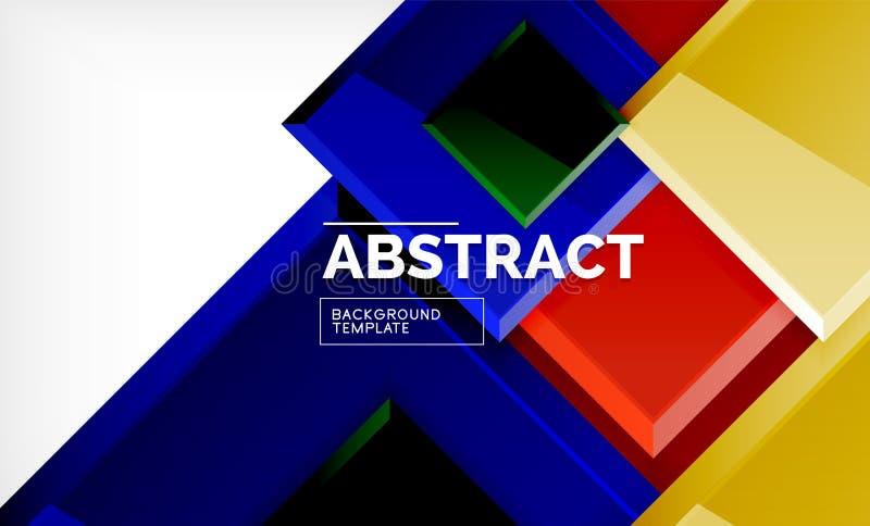Fondo astratto geometrico, progettazione quadrata moderna illustrazione di stock