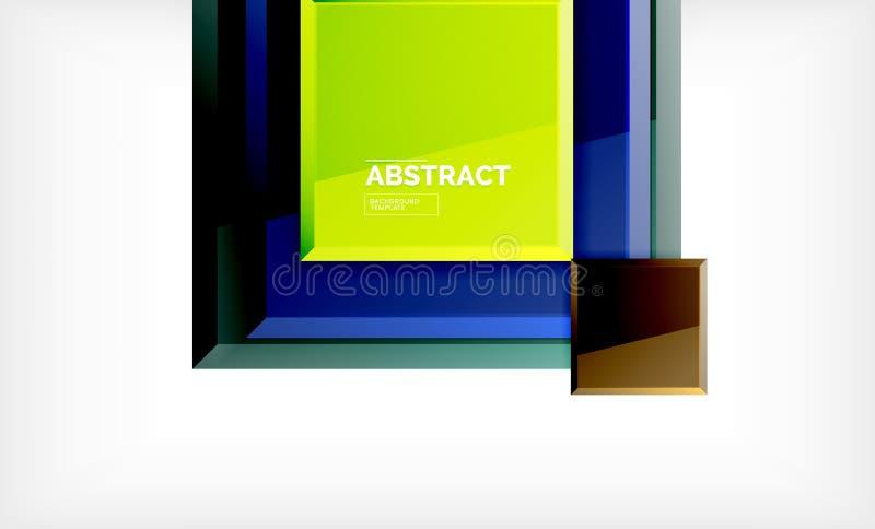 Fondo astratto geometrico, progettazione quadrata moderna royalty illustrazione gratis