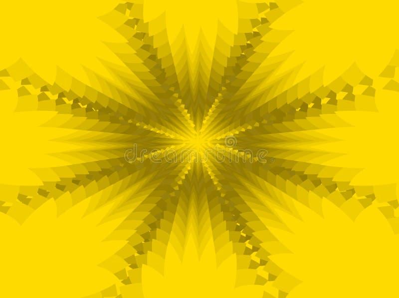 Fondo astratto giallo illustrazione di stock