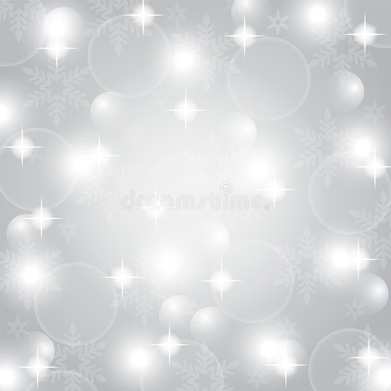 Fondo astratto grigio di Natale royalty illustrazione gratis