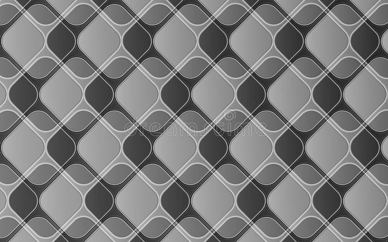 Fondo astratto grigio elegante dei rombi e dei quadrati con effetto 3D illustrazione vettoriale