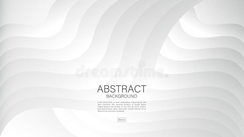 Fondo astratto grigio, vettore geometrico, struttura grafica e minima, progettazione della copertura, modello dell'aletta di fila royalty illustrazione gratis