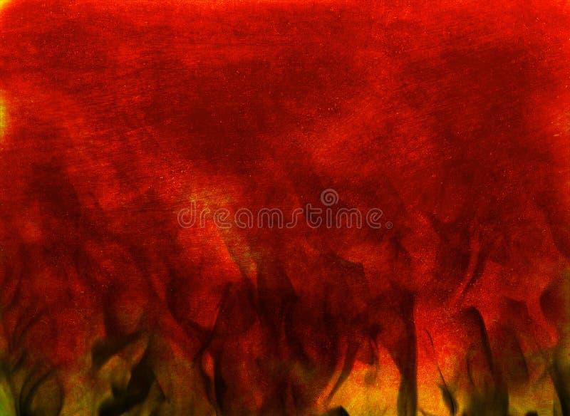 Fondo astratto infuriantesi di struttura del fuoco bruciante fotografia stock libera da diritti