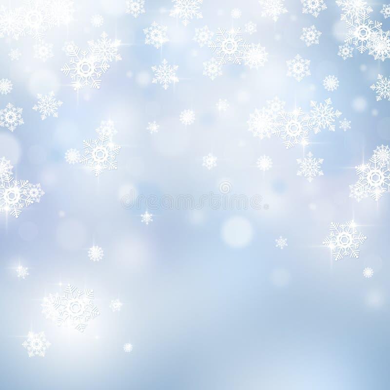 Fondo astratto leggero di Natale illustrazione vettoriale