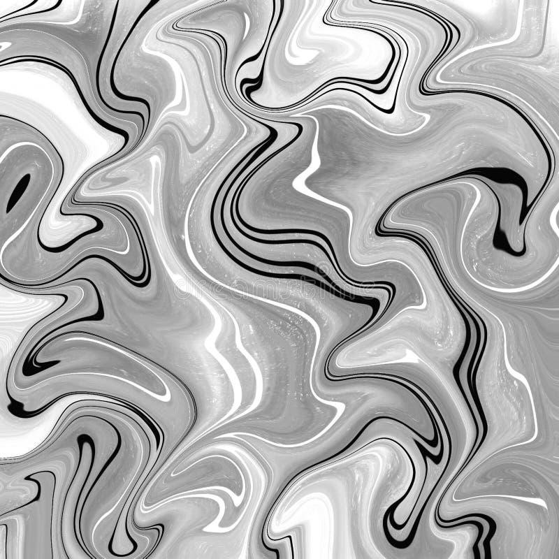 fondo astratto liquido con le strisce della pittura a olio illustrazione di stock