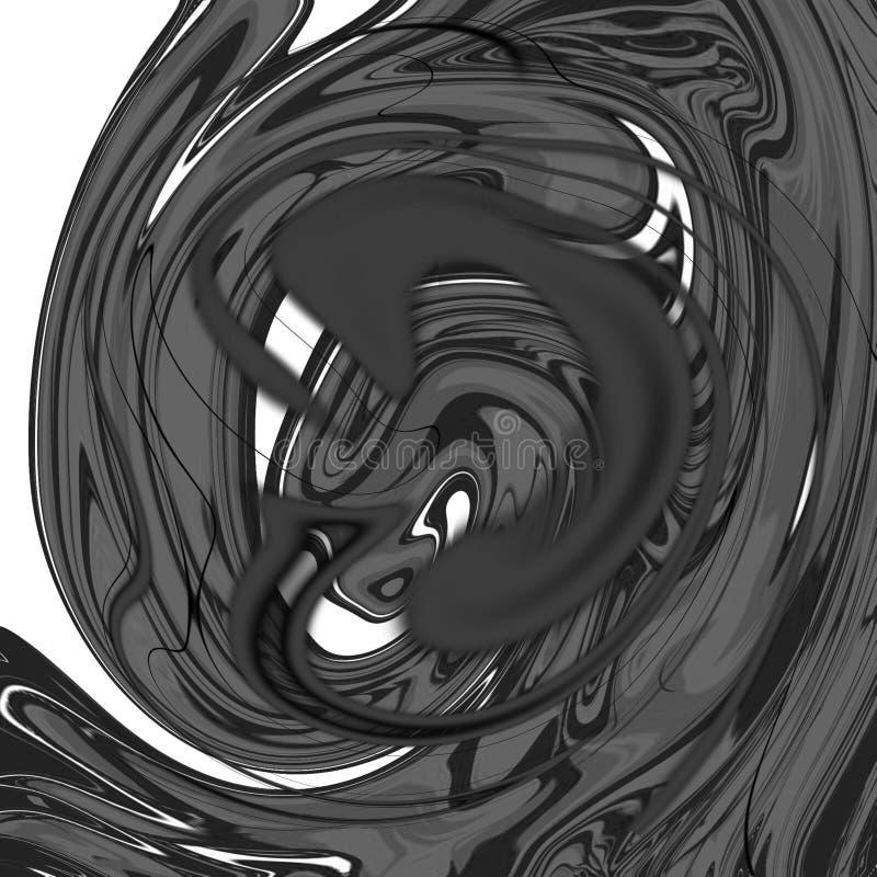 Fondo astratto liquido di marmo con le strisce della pittura a olio illustrazione di stock