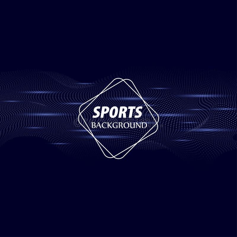 Fondo astratto luminoso con le onde dinamiche di stile minimalista Manifesto moderno di colore per gli sport Illustrazione di vet illustrazione vettoriale
