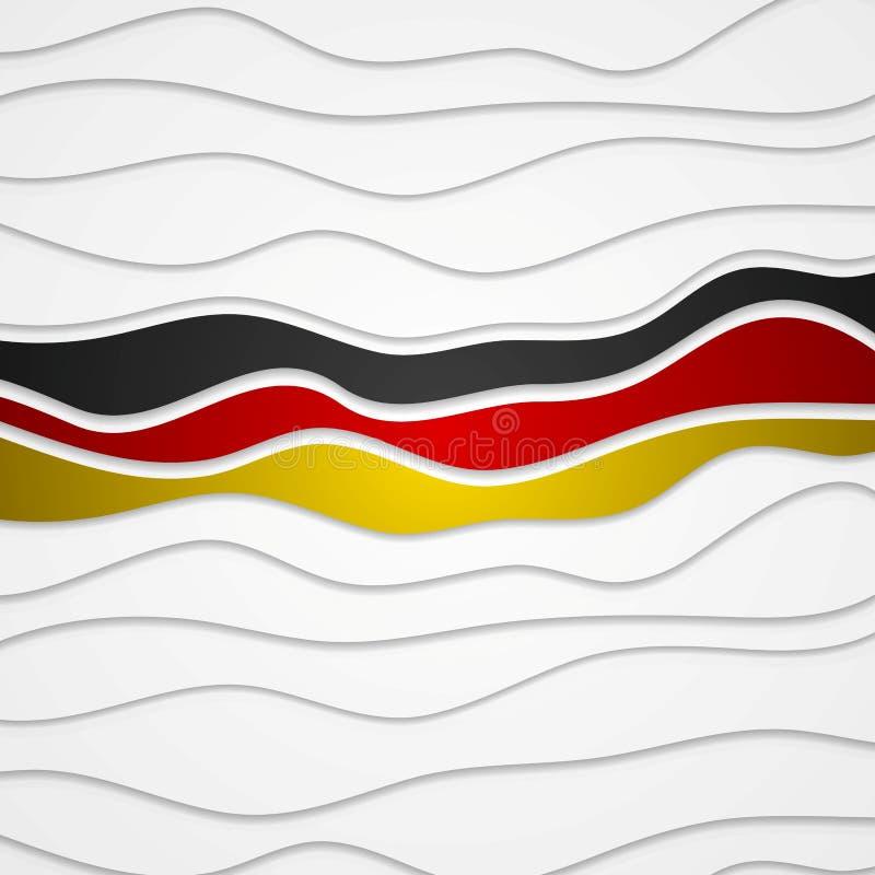 Fondo astratto luminoso ondulato corporativo tedesco royalty illustrazione gratis